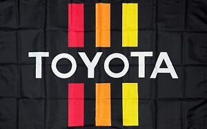 TRD Flag 3x5 ft Black Banner Toyota Racing Development Motor Sports Car Garage