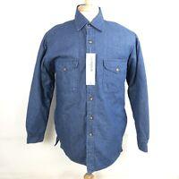 Campus NWT Mens Medium Blue Quilt Lined Denim Jacket Shirt Button Front
