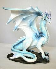 edler massiver weißer Drache Grawlbane Fantasy Drachen Figur 19 cm