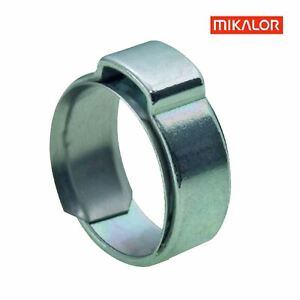 Mikalor W1 Single Ear O Clips with Insert Stepless Inner Ring. Hose Clamps