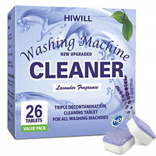 HIWILL Washing Machine Cleaner Effervescent Tablets, Solid Washer Deep Cleaning