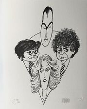"Al Hirschfeld Hand Signed Art Lithograph, ""The Four Chiefs"""
