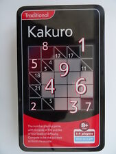 Kakuro game in a Tin. New. Sealed. Age8+yrs.1-4 players. 4 levels of difficulty.