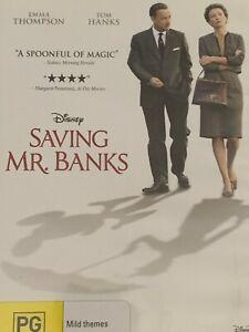 Saving Mr Banks Emma Thompson Tom Hanks DVD Like New