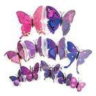 New 12 Pcs 3d Butterfly Wall Stickers Pvc Children Room Decal Home Decoration #
