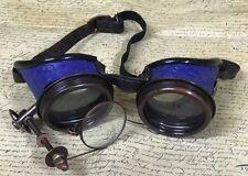 SDL 3D científicos locos Gafas De Cobre Chiflados cobre COGS Azul Leatheret detalles