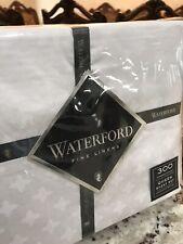 WATERFORD LINEN 300 TC 100% COTTON QUEEN ELYZAV LUXURY SHEET SET! White