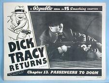Dick Tracy Returns Ralph Byrd 2 Choice Movie Serial Lobby Cards Republic R1948