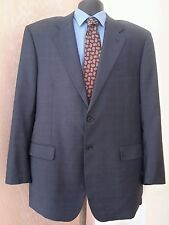 CHIAVARI Men's Comero Super 100's 2Button Blue Window Pane Blazer Italy 44L