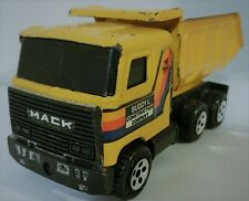 1980 Buddy L Construction Co, Mack Cabover Dump Truck, Pressed Steel