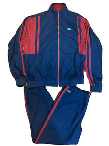 Lacoste Insulated Track Suit Burgundy And Blue size 9 (4XL)