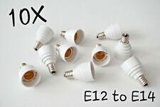 10pcs E12 to E14 Base LED Light Lamp Bulb Adapter Converter Screw light Sockets
