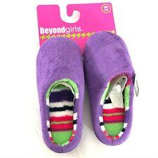 BeyondGirls Fuzzy House Slippers Soft Anti Slip Purple Size 2/3
