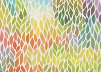 A1 | Colourful Leaf Pattern Poster Art Print 60 x 90cm 180gsm Nature Art #14132