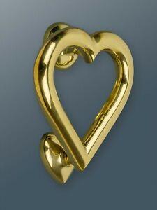 Brass Bee Door Knocker - Brass Finish - Solid Brass Heart Door Knocker