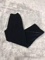 Vintage St. John Sport Marie Gray Black Belvet Pullon High Rise Pants Women's S