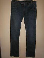 5CB) Azul para Hombre Gio-Gio pierna recta Jeans Cierre De Cremallera Cintura 30R pierna 32