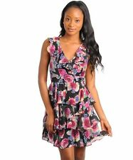 Unbranded Cotton Blend Floral Regular Size Dresses for Women