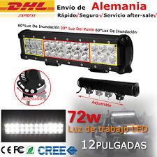 72W CREE LED Barra De Luz inundación trabajo Lámpara Combo SPOT FLOOD /Light Bar