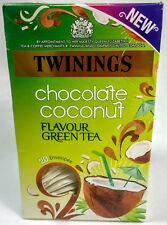 Twinings Tropical Coconut Chocolate Indulgence Green Tea. 1 Boxes 20 Envelopes