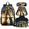 Transformers Print Children School Backpack Lunch Bags Sling Pen Case Gifts Lot