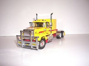 """DCP FIRST GEAR 1/64 DHL LOGOED YELLOW MACK SUPER-LINER WITH 60"""" SLEEPER"""
