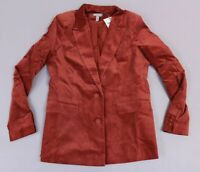 ASOS Women's L/S Velvet Pocket Detail Suit Blazer KB8 Red US:12 UK:16 NWT