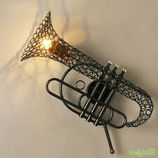 New Saxophone Iron art wall lamp bar cafe loft industrial style retro Fixture
