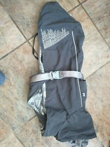 "Hurtta Extreme Warmer Outdoor Dog Coat Winter Warm Reflective Black 45cm 18"""