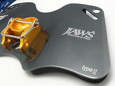 JAWS TYPE II Alloy Dual Play Gimbal Pad Plate for Big Game Jigging Fishing GRAY