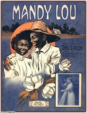 African American 800 RAGTIME sheet music ILLUSTRATION early BLACK HISTORY DVD
