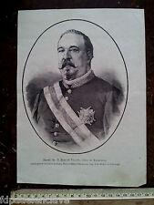 BALMASEDA BIZKAIA BLAS DE VILLATE Conde Valmaseda siglo XlX litografia Grabado