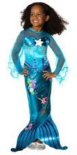 Child Medium Girls Blue Mermaid Costume - Mermaid Costumes