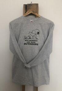 Snoopy & Woodstock Camping Long Sleeve T.shirt Mens Womens Unisex S M L XL XXL