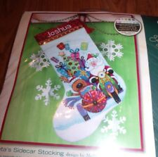 Dimensions Santa'S Sidecar Counted Cross Stitch Stocking Kit