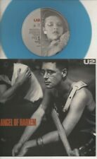 "U2   Rare 1988 Aust Only 7"" OOP L/Edit Blue Coloured Wax Rock P/C Single ""Angel"""