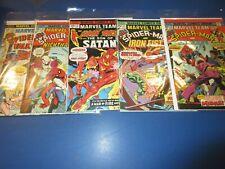 Marvel Team Up #30,31,32,33,34 Bronze age lot of 5 Spider-man Fine-/Fine