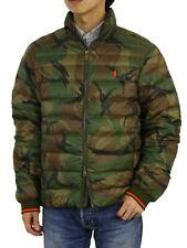 Polo Ralph Lauren Упаковываемые вниз куртка пальто-камуфляж с оранжевым