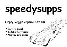 Empty Veggie Capsules #00 qty 200 vitamin vegan vegetarian capsule size 00 pill