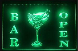 Cocktails Bar Open LED Neon  Sign Home Light Up Drink Pub cocktail name beer