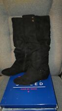 SIMPLY STYLED WOMENS BLACK BRIT BOOTS FLAT HEEL SIZE 6.5 ~ NEW IN BOX