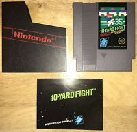 10-YARD FIGHT Nintendo NES 5-Screw Game Cart SHOWN Working! Sleeve/Manual! 1985