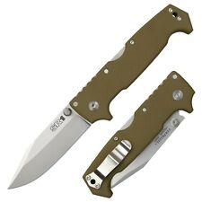 "Cold Steel SR1 Knife 4"" CPM S35VN Stainless Steel Blade & OD Green G10 Handle"