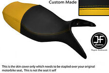 BLACK & YELLOW VINYL CUSTOM FITS BMW R 1100 S 98-05 DUAL SEAT COVER ONLY