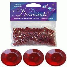 550 Diamante Crystals Wedding Birthday Party Table Confetti Decoration 6mm Gems Ruby