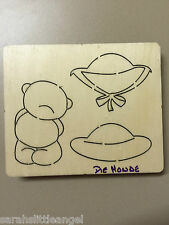 WOODEN DIE CUTTER-LADIES DAY Bear, Use in Sizzix Big Shot, VERY RARE!!!