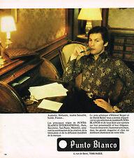 PUBLICITE ADVERTISING 064  1975  PUNTO BLANCO  chemises HELMUT BERGER & D.BAILEY