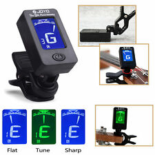LED Clip-on Electronic Digital Guitar Tuner Chromatic Bass Violin Ukulele