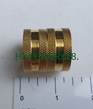 "1 PC - 3/4"" FEMALE GARDEN HOSE SWIVEL HOSE TO HOSE CONNECTOR - LEAD FREE BRASS"