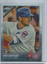 KRIS BRYANT 2015 TOPPS CHROME REFRACTOR RC ROOKIE CARD #112 CHICAGO CUBS NICE!